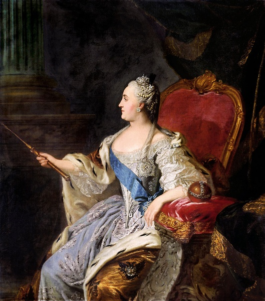 Catherine II by Ф. С. Рокотов