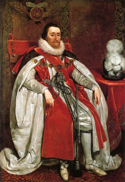 King James VI and I  by Daniel Mytens