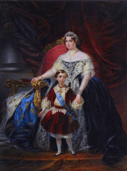 Louise Marie Thérèse with son Robert by L. Carlini