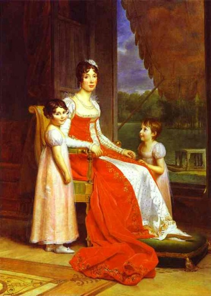 Marie Julie with daughters by François Pascal Simon Gérard